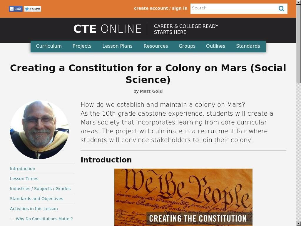Creating a Constitution for a Colony on Mars
